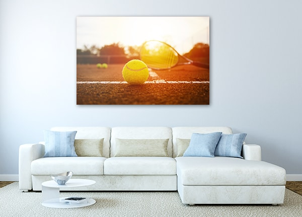 Tennis Court Print Artwork on the Wall