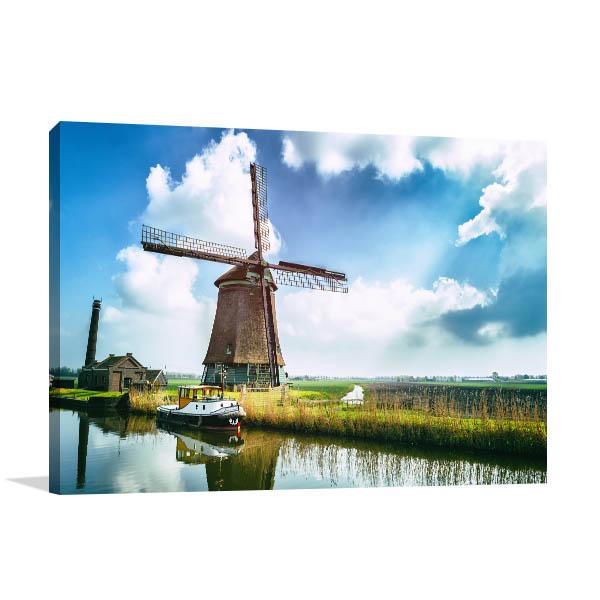 Traditional Dutch Windmill Wall Art