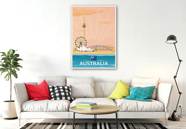 Travel Australia Prints Canvas