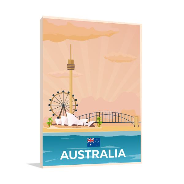 Travel Australia Artwork