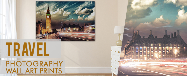 Travel Art Style Prints In Living Room Concepts