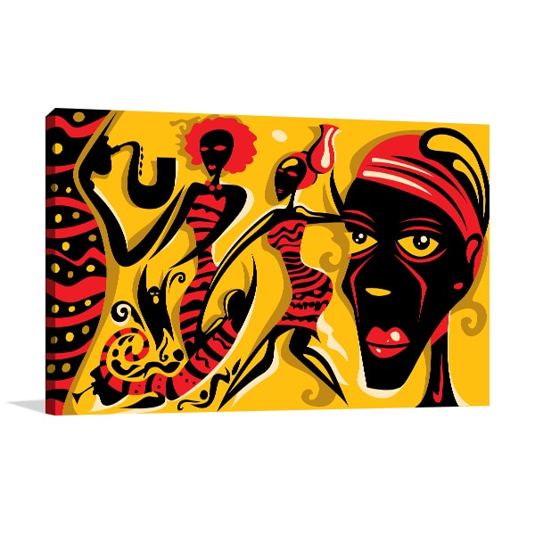 Tribal Music Canvas Prints