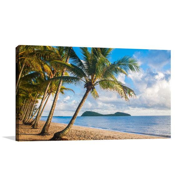 Tropical Beach Cairns Canvas Prints