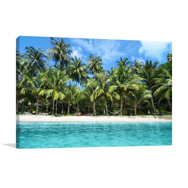 Tropical Island Art Print Lovely Beach Canvas Prints