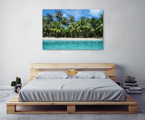 Tropical Island Art Print Lovely Beach Canvas Art Prints