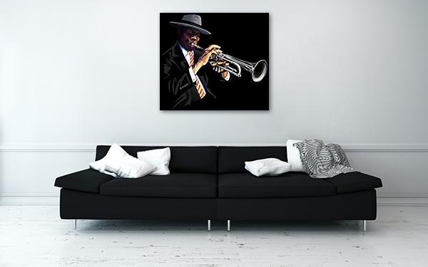 Trumpet Player Canvas Prints