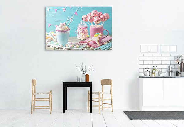 Unicorn And Cookies Wall Art