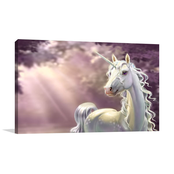 Unicorn In The Forest Prints Canvas