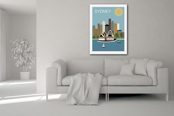 Vector Australia Prints Canvas