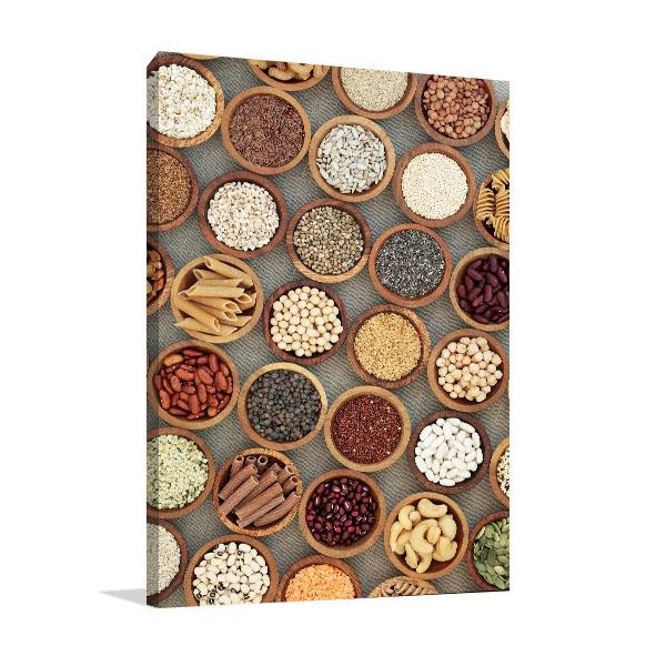 Vegan Dried Food Canvas Art Prints