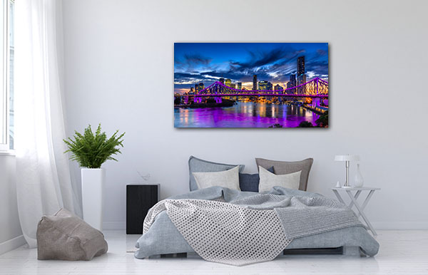 Vibrant Night Brisbane Canvas Art Prints