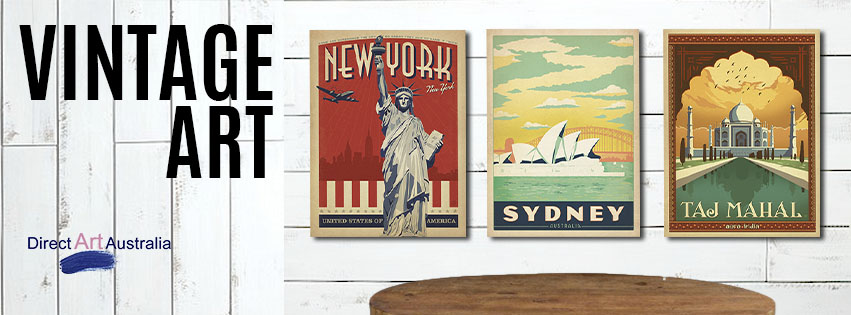 Vintage Art Style Prints And Ready To Hang Canvas : canvas wall art online australia - www.pureclipart.com