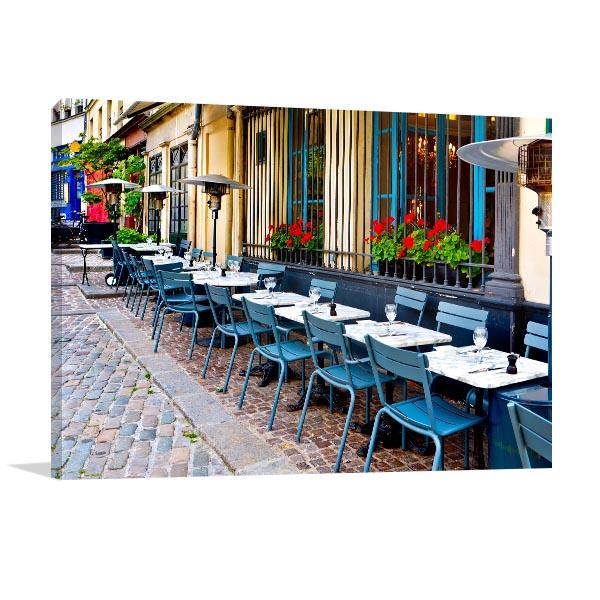 Vintage Restaurants in France Wall Art