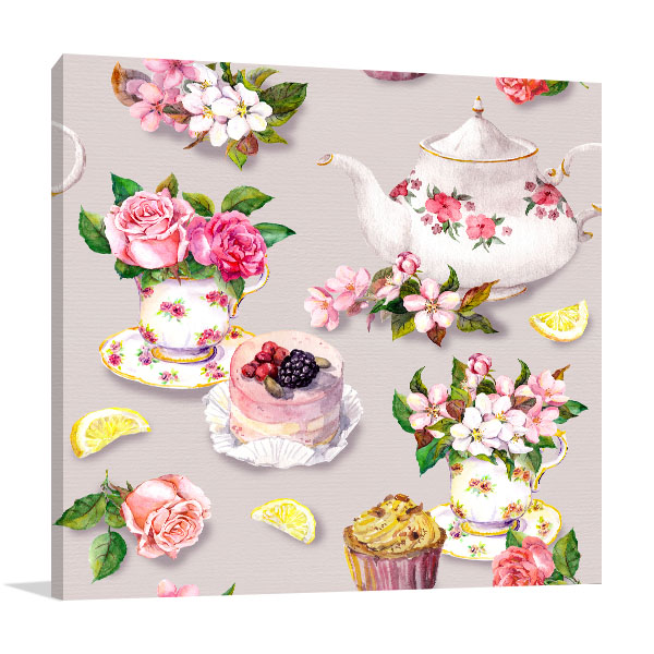 Vintage Tea Canvas Art Prints