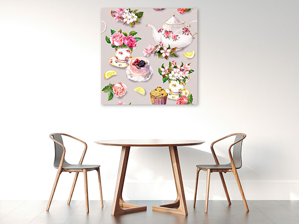Vintage Tea Prints Canvas