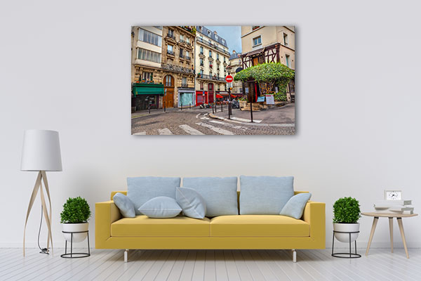 Walk with me in Streets of Paris Canvas Prints