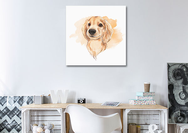 Watercolour Puppy Wall Art