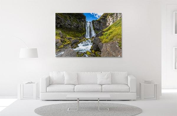 Waterfall Mountain Canvas Prints