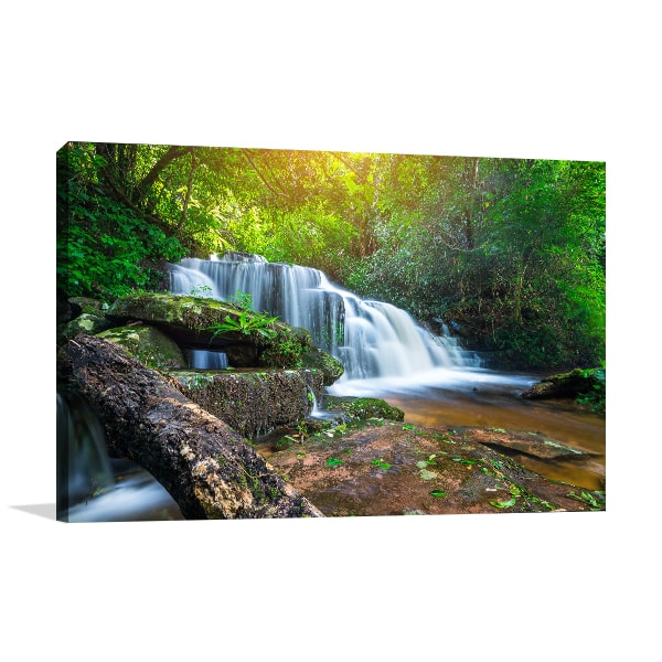 Waterfalls Forest Canvas Art Prints