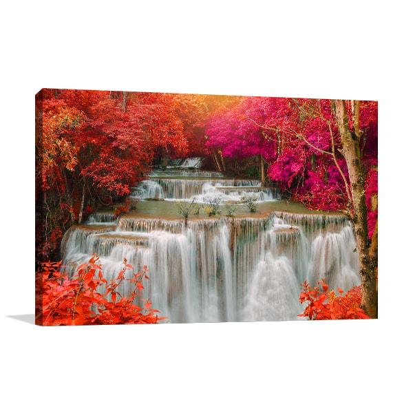 Waterfalls Jungle Prints Canvas