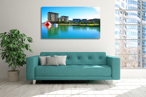 Waterfront Sunny Day Darwin Canvas Art