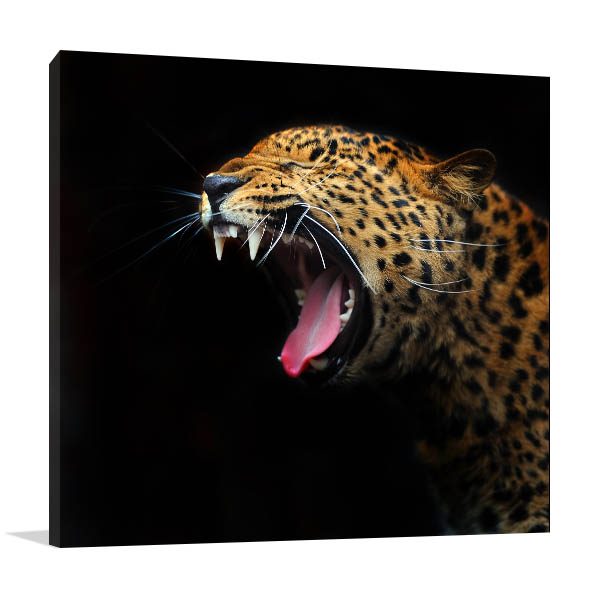 Wild Leopard Canvas Prints