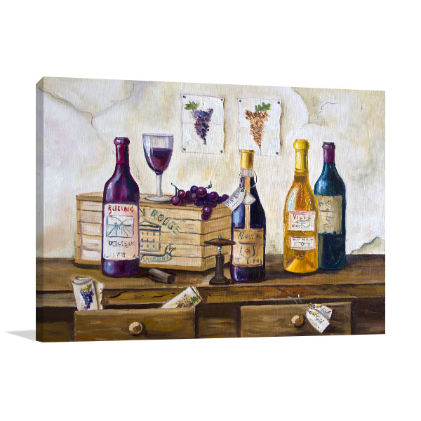Wine And Grapes Wall Art