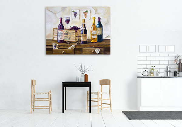 Wine And Grapes Canvas Prints