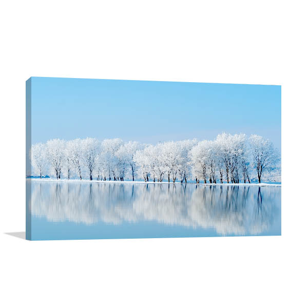 Winter Reflections Prints Canvas
