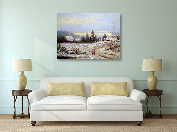 Winter Village Canvas Prints