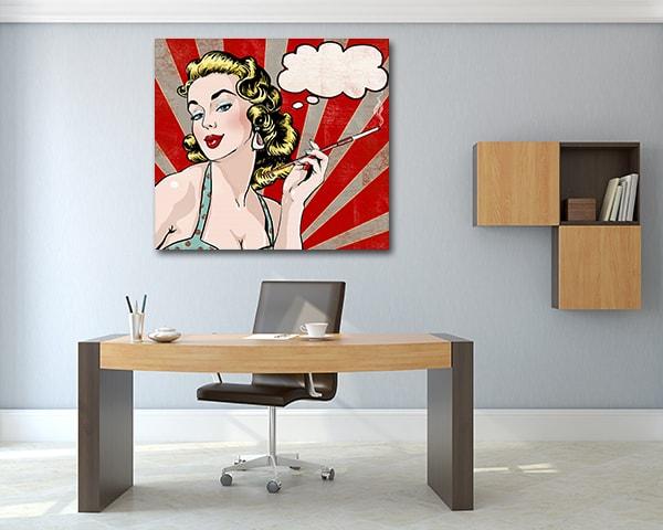 Woman Popart Artwork