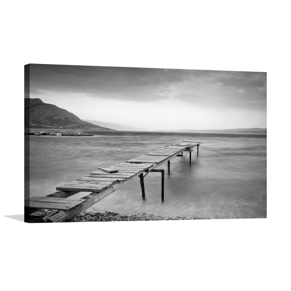 Wooden jetty print artwork