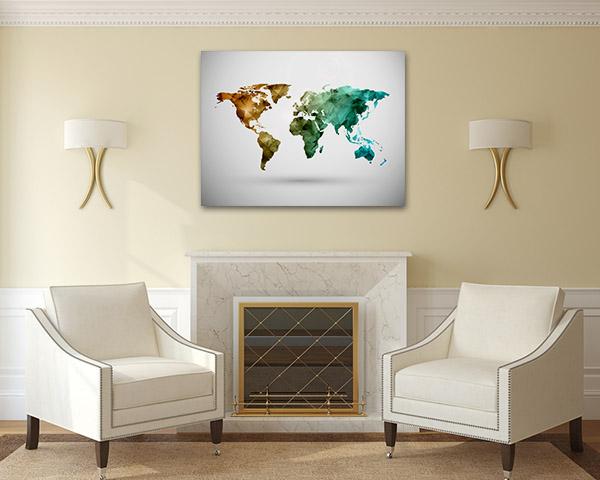 World Map Digital Artwork