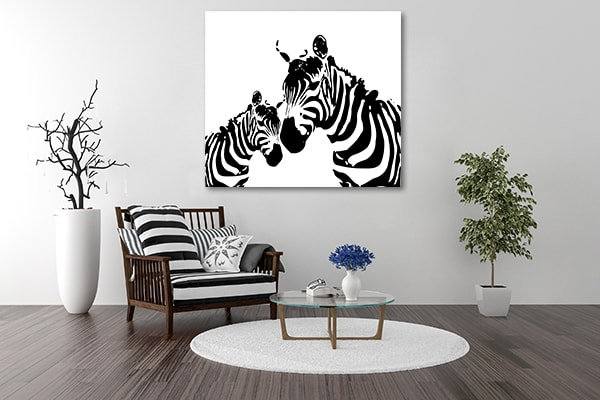Zebra in Vector Canvas Art