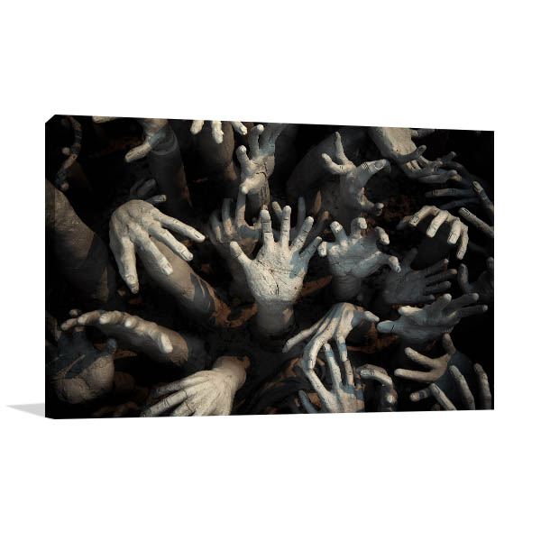 Zombie Hands Art Print In Modern Canvases Sold Online