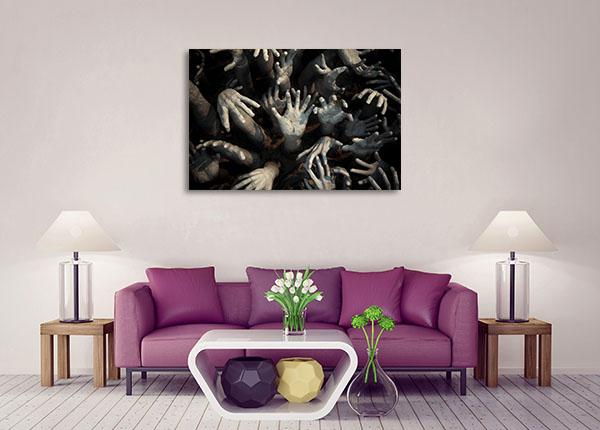 Zombie Hands Canvas Art Prints